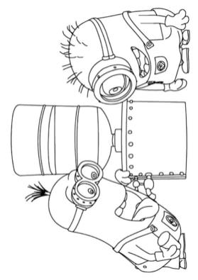 Minion Inventing a New Device Coloring Pages