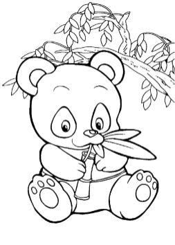 Panda Coloring Pages for Toddlers