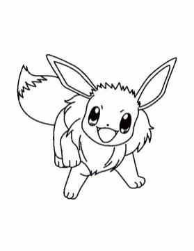 Pokemon Eevee Coloring Pages Online 3fa4