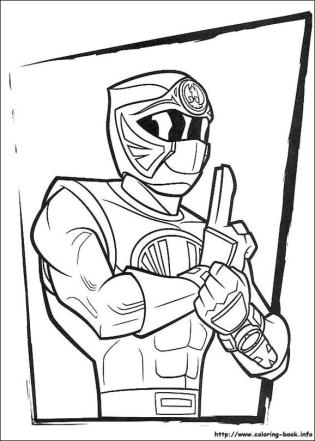 Power Rangers Ninja Coloring Pages for Kids