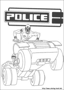 Power Rangers Police Coloring Pages for Kids