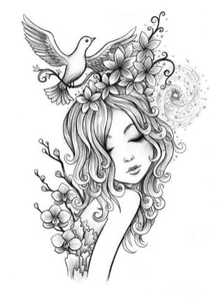 Printable Fairy Coloring Pages for Adults 2cv7