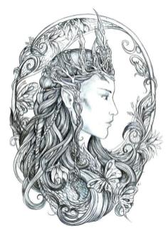 Printable Fairy Coloring Pages for Adults 4tl9