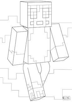 Stampy Minecraft Coloring Pages spy9