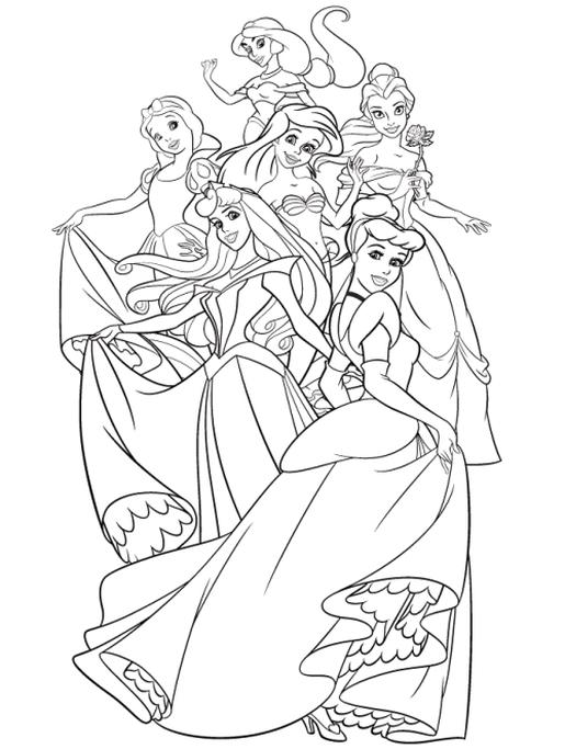 Adult Coloring Pages Disney All Classic Disney Princesses