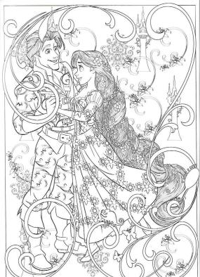 Adult Coloring Pages Disney Amazing Drawing of Disney Tangled