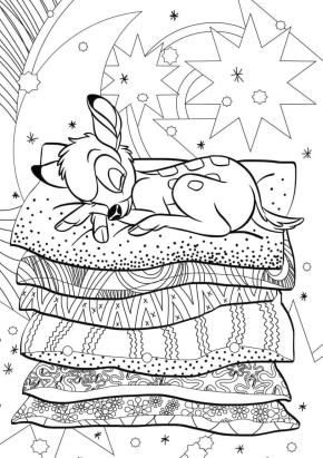 Adult Coloring Pages Disney Disney Bambi Detailed Drawing