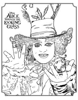Adult Coloring Pages Disney Mad Hatter from Alice Through the Looking Glass