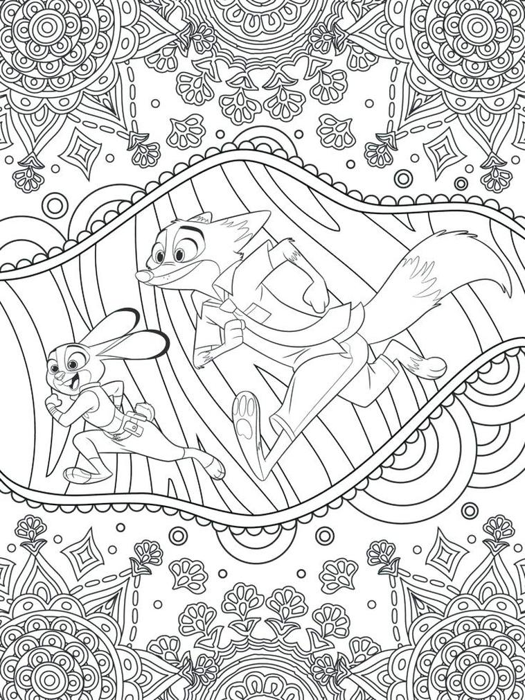 Adult Coloring Pages Disney Zootopia Printable for Adult