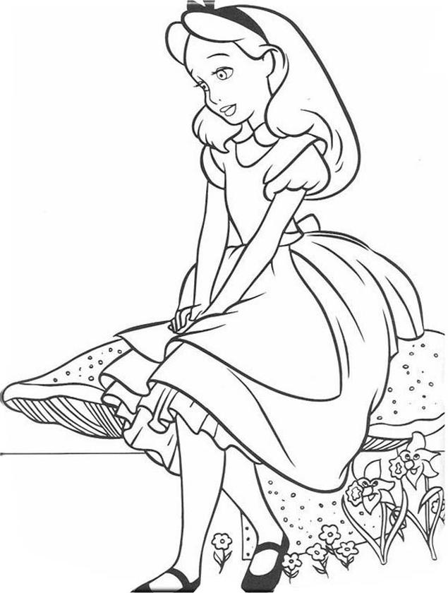 20+ Free Printable Alice In Wonderland Coloring Pages - EverFreeColoring.com