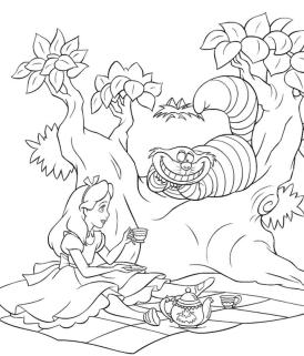 Alice In Wonderland Coloring Pages Free Printable 6fc0