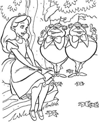 Alice In Wonderland Coloring Pages Free Printable 9ws6