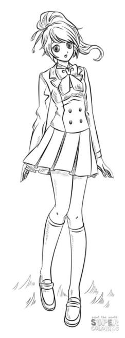 Anime Girl Coloring Pages jr71