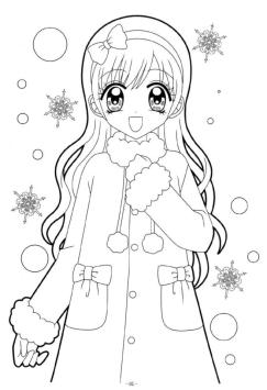 Beautiful Anime Girl Coloring Pages to Print wn15