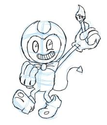 Bendy and the Ink Machine Coloring Pages Free Bendy the Artist