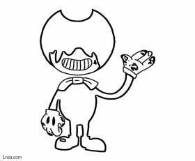 Bendy and the Ink Machine Coloring Pages Free Faceless Bendy