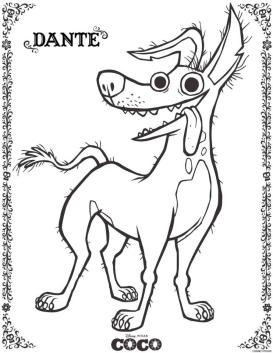 Coco Coloring Pages Dante fu3y