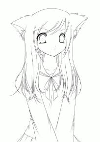 Cute Anime Girl Coloring Pages kl73