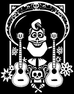 Disney Coco Coloring Pages to Print Ernesto Smiling Happily