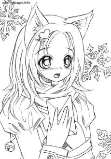 Free Anime Girl Coloring Pages sh63