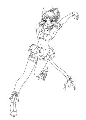 Free Anime Girl Coloring Pages tc05