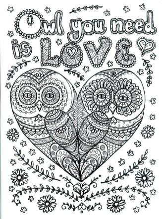 Free Owl Coloring Pages for Adults jo48