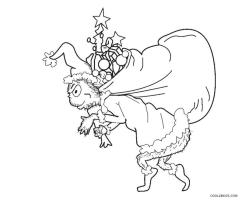 Grinch Coloring Pages Online Grinch Getting Away with Christmas Presents