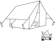 House Coloring Pages Printable Tent Is a Temporary House