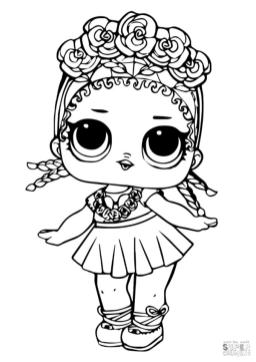 LOL Dolls Coloring Pages Coconut cnt4
