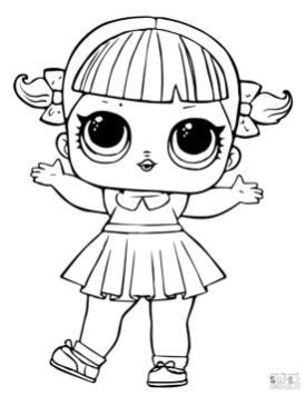 LOL Dolls Coloring Pages Line Dancer ld37