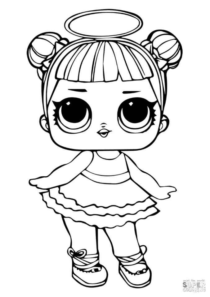 LOL Dolls Coloring Pages Sugar sg12