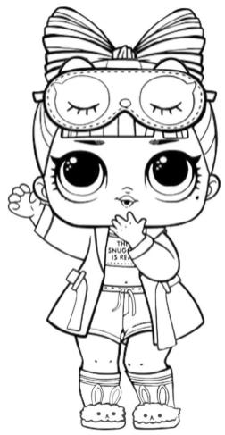 LOL Surprise Dolls Coloring Pages Free hre0