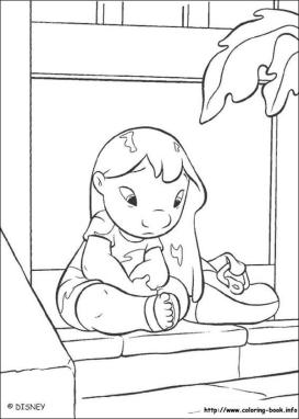 Lilo and Stitch Coloring Pages Lilo Missing Stitch