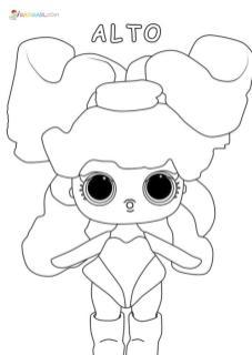 Lol Dolls Coloring Pages Printable Alto Remix
