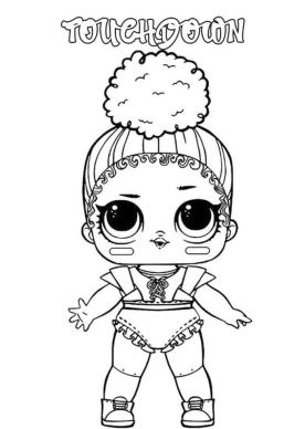 Lol Dolls Coloring Pages Printable Touchdown
