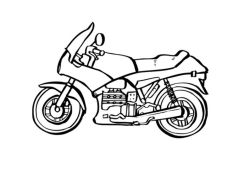 Motorcycle Coloring Pages Easy Simple Sport Bike Drawing for Kids