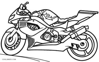 Motorcycle Coloring Pages Free to Print