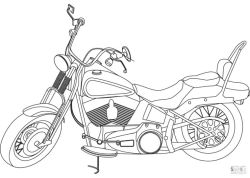 Motorcycle Coloring Pages Harley Davidson Printable