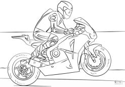 Motorcycle Coloring Pages Racing Motorcycle