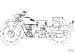 Motorcycle Coloring Pages Very Old Motorcycle Used in War
