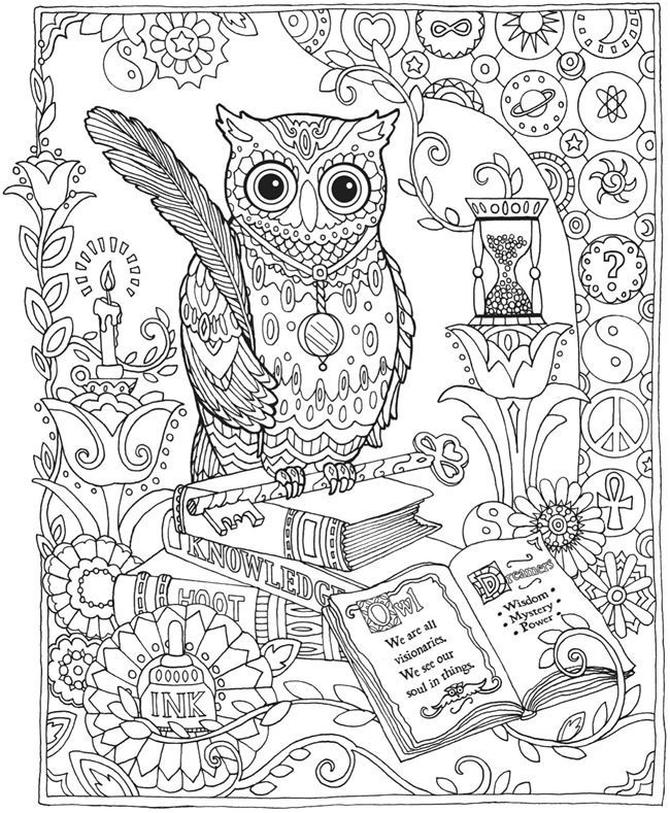 Owl Adult Coloring Pages Free Printable ob62