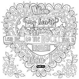 Quote Coloring Pages Free My Heart Is Faint
