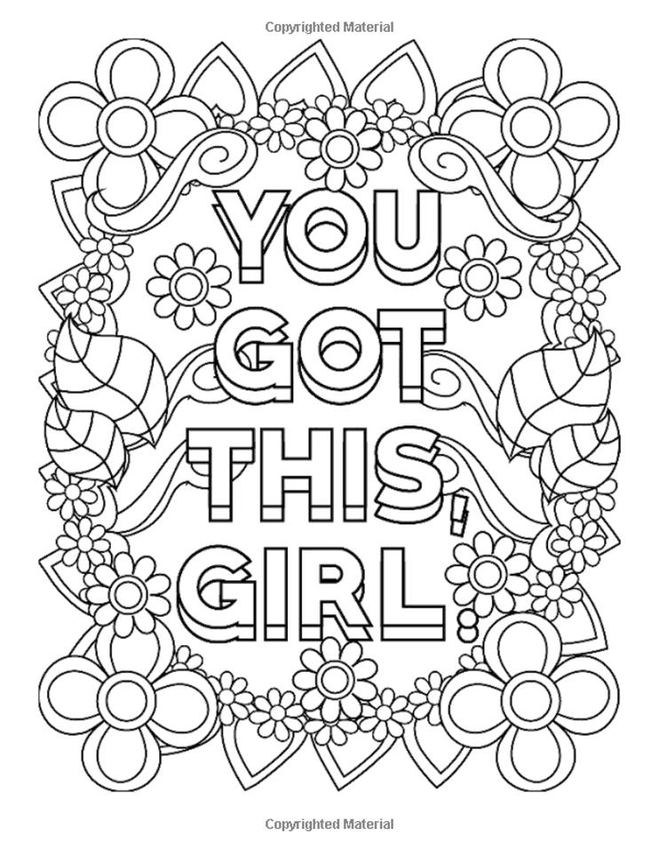 Quote Coloring Pages Free You Got This Girl