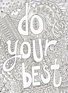 Quote Coloring Pages Just Do Your Best