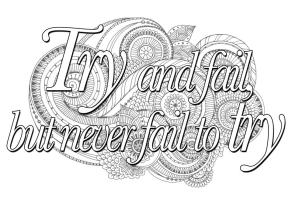 Quote Coloring Pages Never Fail to Try