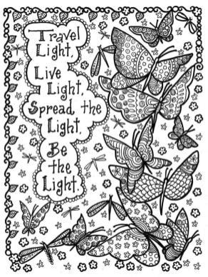 Quote Coloring Pages Printable Traver Light Live Light Be the Light