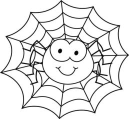 Baby Spider Web Coloring Pages by38