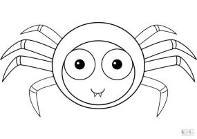 Spider Coloring Pages for Toddlers ct31