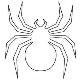 Spider Coloring Pages to Print Blank Spider Outline