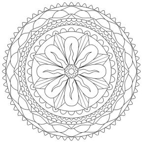 Abstract Coloring Pages Free Printable Simple Flower Mandala